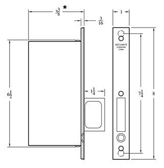 Accurate Pocket Door Lock