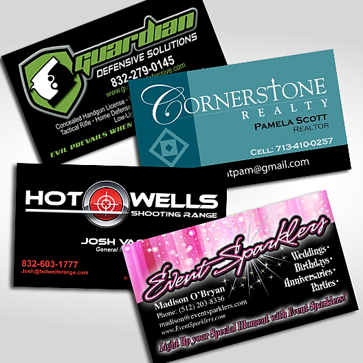 Custom printing services screen printing embroidery for Screen printed business cards