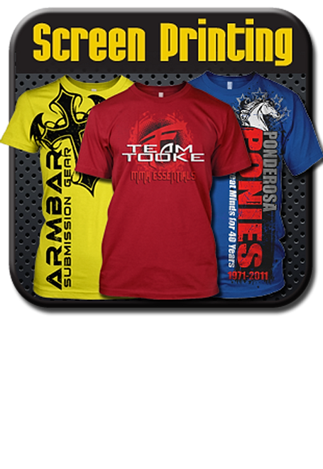 Custom printing services screen printing embroidery for T shirt printing houston