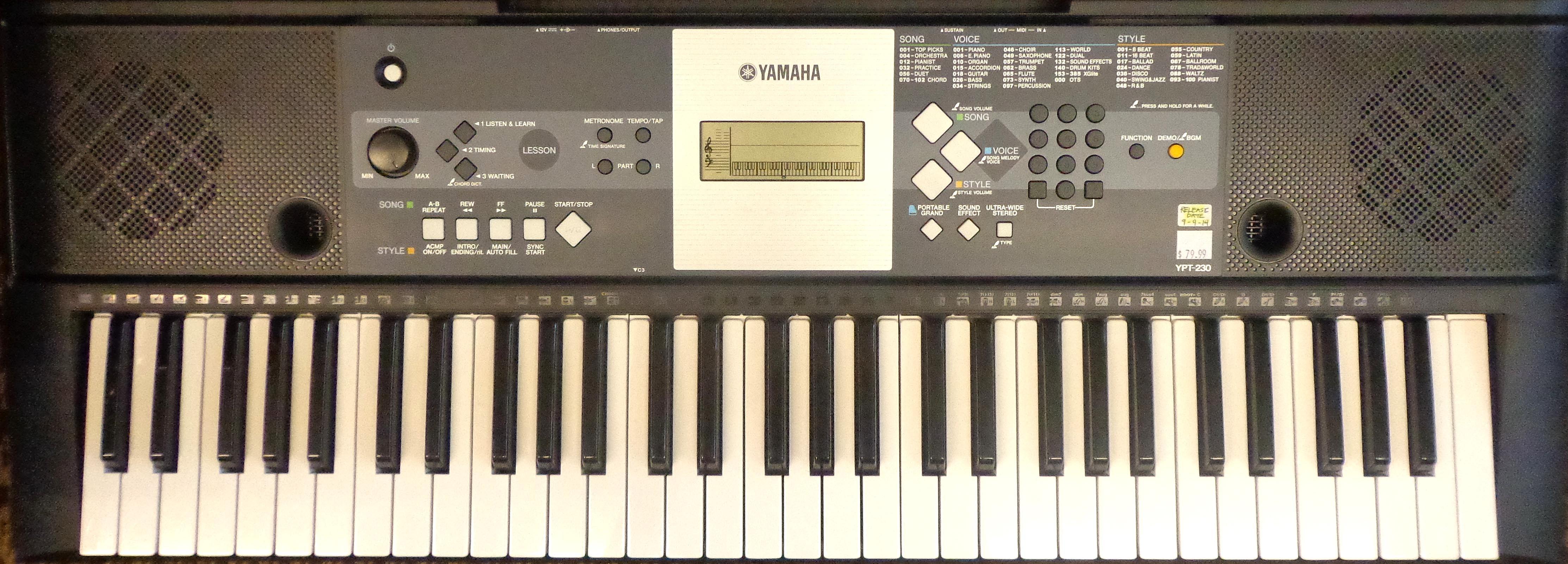 Yamaha YPT230 USED!!!