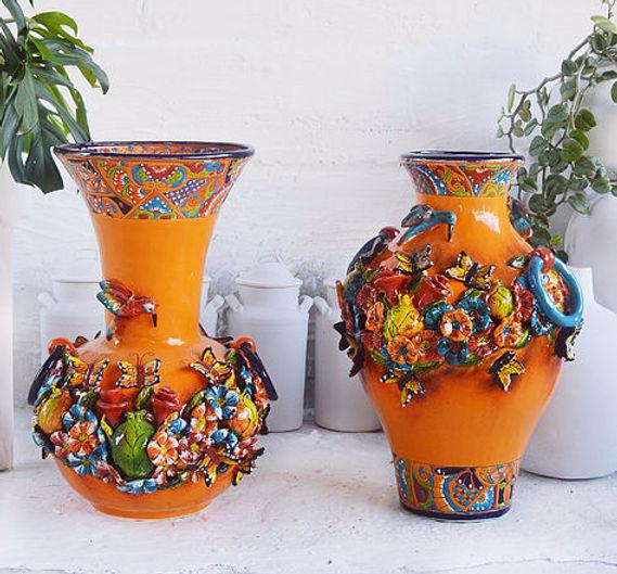 Gerardo garc a aut ntico embajador de la may lica for Como pintar jarrones de ceramica