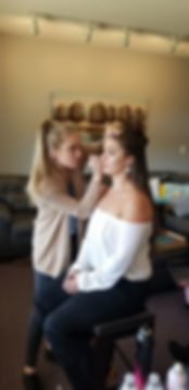 Asheville airbrush makeup and hair