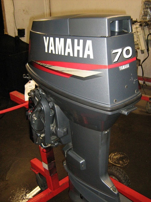 yamaha outboard paint. 2 stroke used rebuilt remanufactured outboard motor yamaha 70hp paint