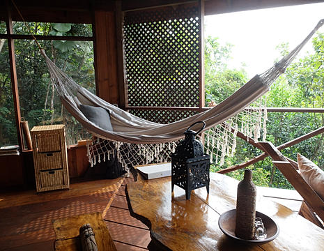 Hammock in eco cottage overlooking Caribbean Sea - Courtesy of static.wixstatic.com
