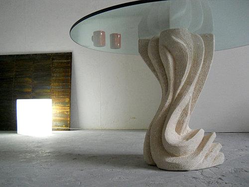 stonebreakers, tavoli in cristallo, tavoli in pietra e vetro
