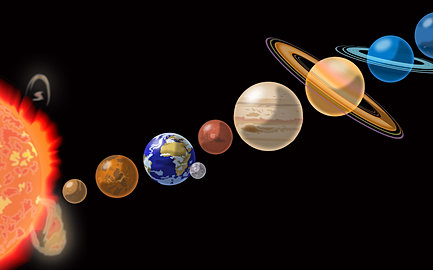 solar system wall painting pinterest - photo #35