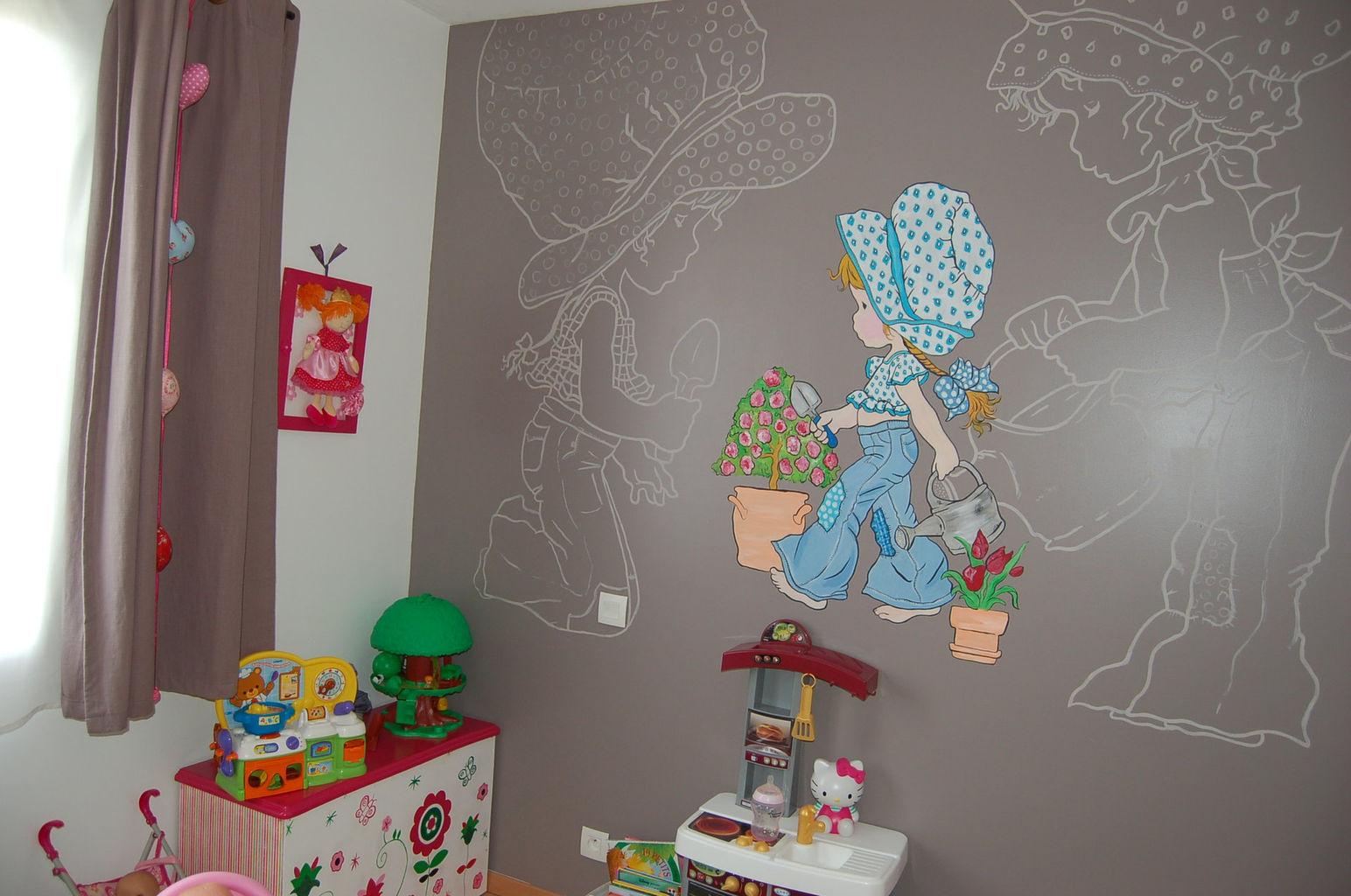 Sarah d cors fresques murales - Dessin muurschildering chambre fille ...