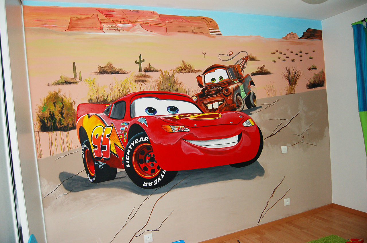 Sarah d cors fresques murales for Decoration chambre cars