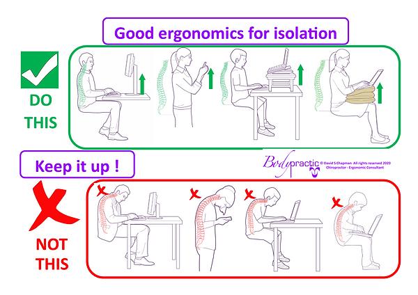 self isolation ergonomics tips 2020 gene