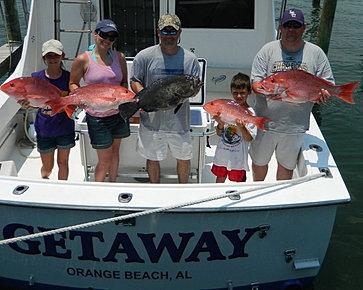 Kids fishing in orange beach alabama for Orange beach fishing charters