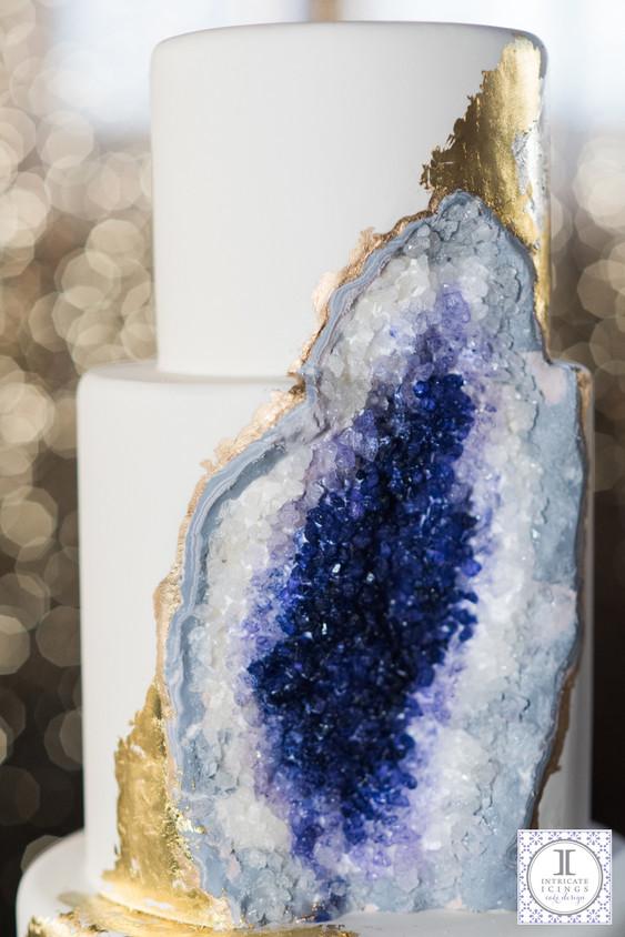 Amethyst Geode Wedding Cake Intricate Icings Cake Design - Geode Wedding Cake