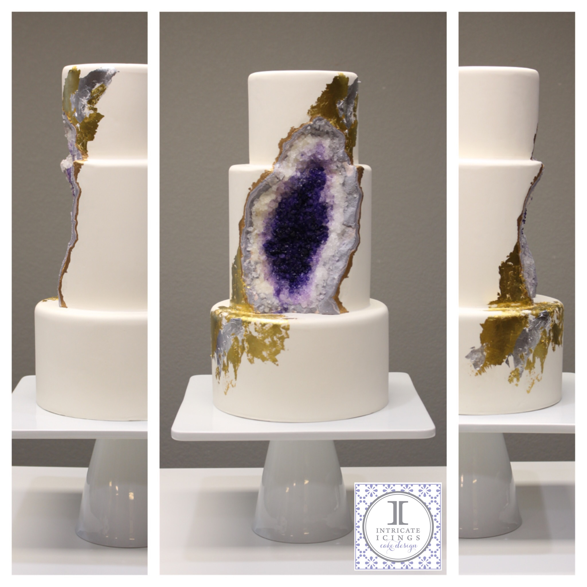 Intricate Icings Cake Design Geode Cake