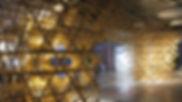 antistatics architecture wood lattice installation