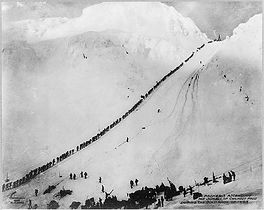 Packers ascending the summit of Chilkoot