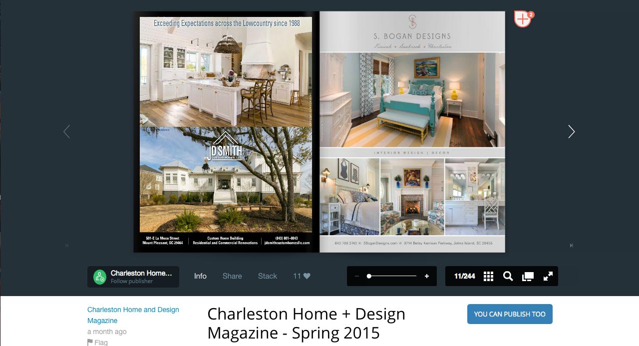 Charleston Home Design Magazine Spring The Fabricsmith