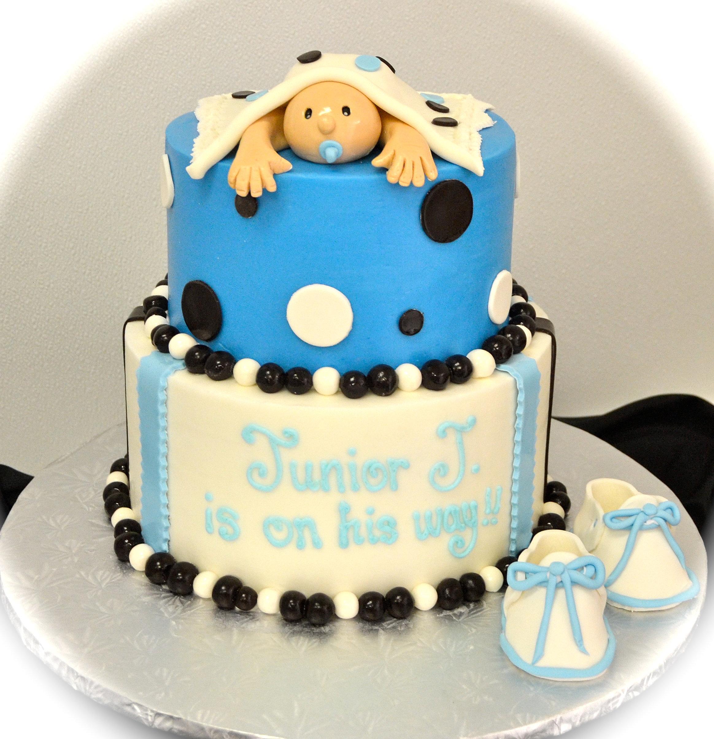 Soonja s Bakery Dallas Custom Cakes fondant baby boy cake