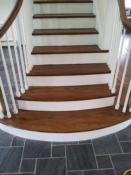 American Wood & Tile - American Wood & Tile Stair Tread Installations