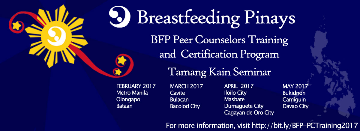 Breastfeeding Pinays Feb to May Events (BFP Peer Counselors Training ...
