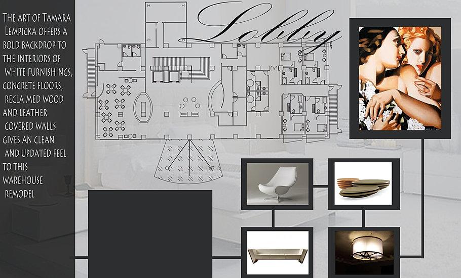 Interior Designer Hotel Lobby Plan