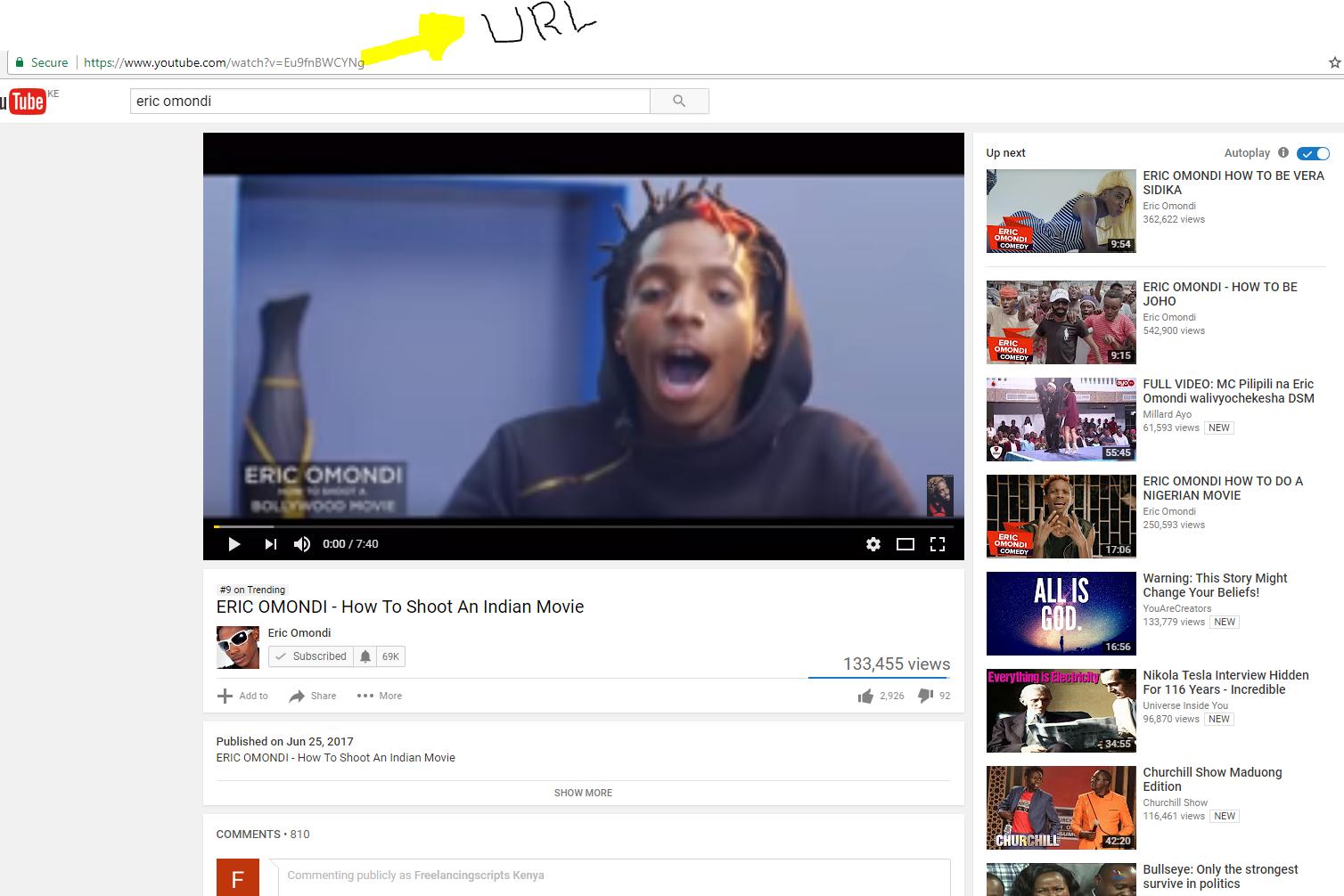 Kenyan Youtube video
