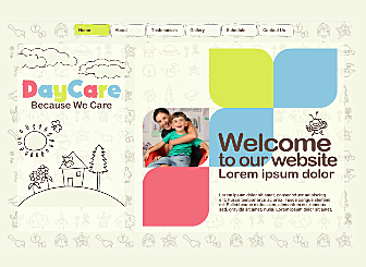 Kindergarten Template - This beautiful Artistic Website is designed to showcase and sell your best New creations. With no downloads and programming needed, high quality professional galleries and an easy to customize layout this design is waiting to present you and  your works  to the world