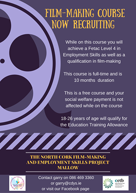 North Cork Film Making Course Employment Project Mallow Mallow