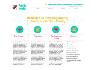 Clínica de salud Template - Esta plantilla web nítida y limpia es perfecta para cualquier servicio médico. ¡Edítala con facilidad y lanza tu negocio online hoy mismo!