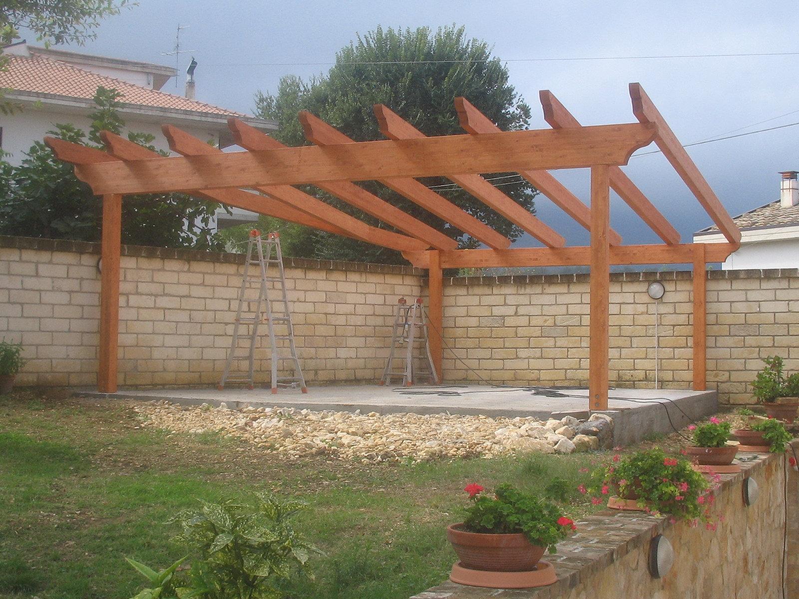 strutture per esterno in legno lamellare in Abruzzo - Chieti - Pescara