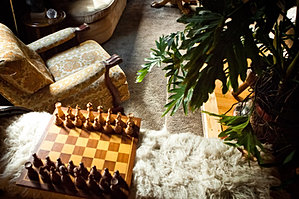 Chess in The Lounge