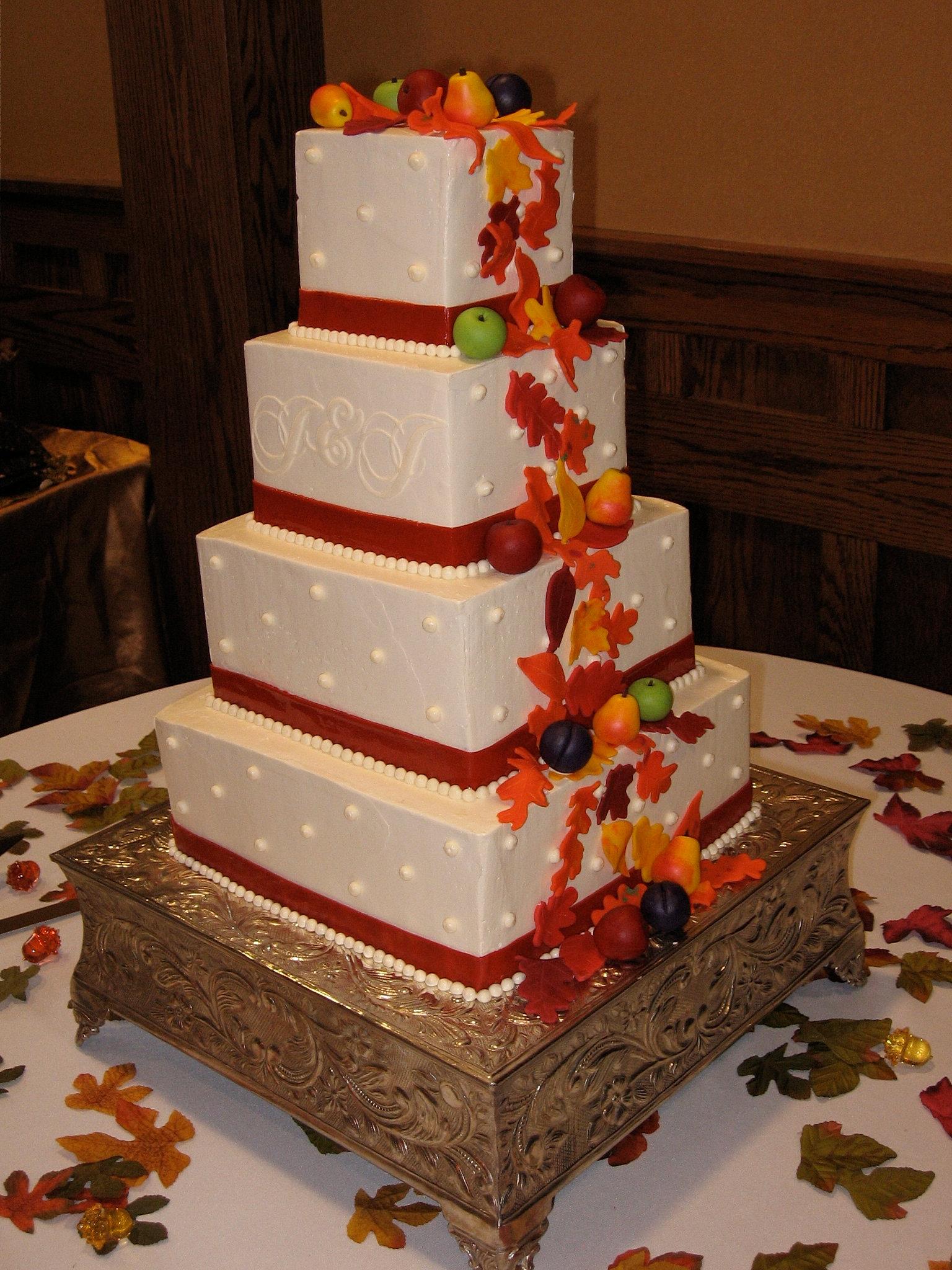 Burnt Orange Wedding Cakes