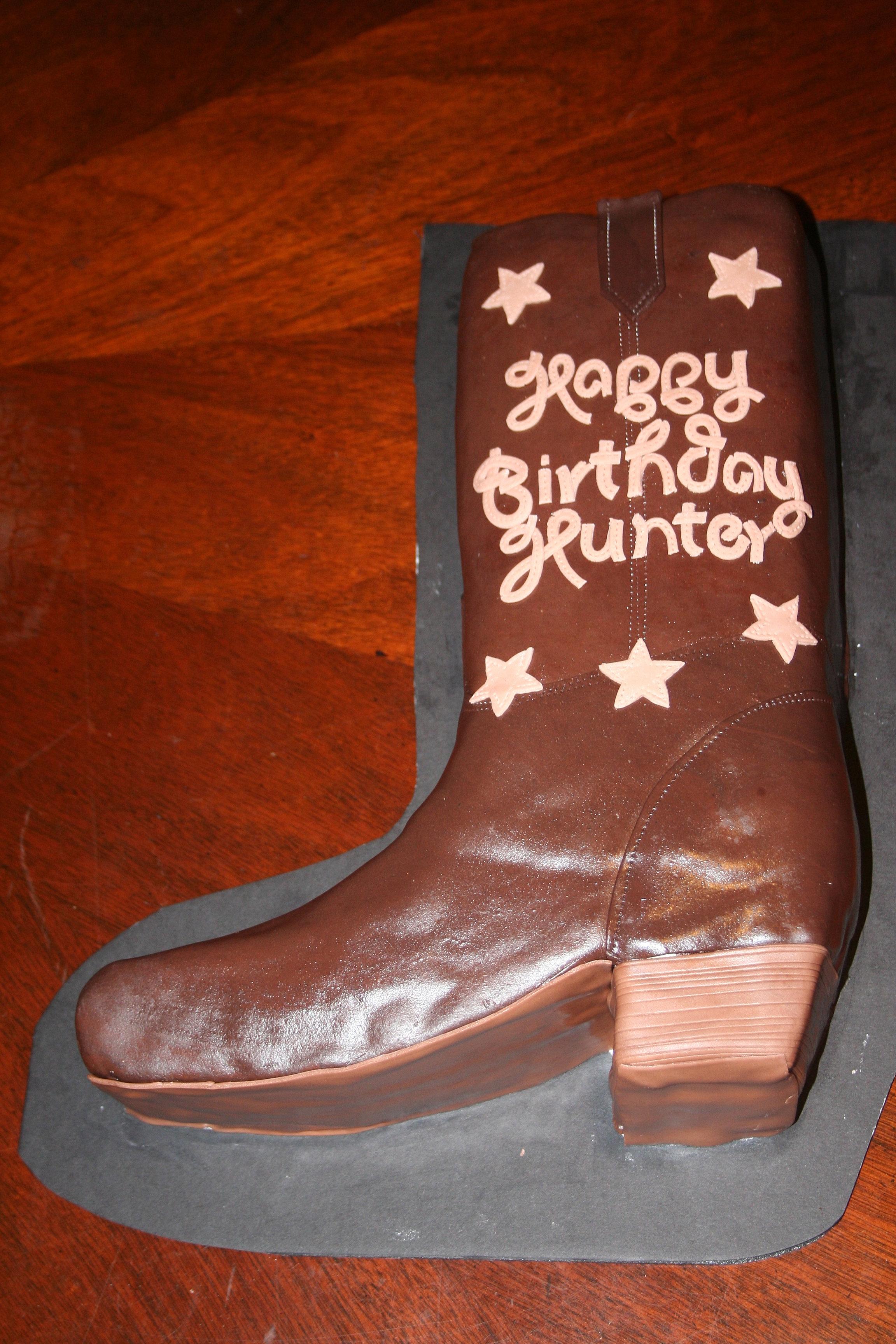Cowboy Boot Birthday Cake