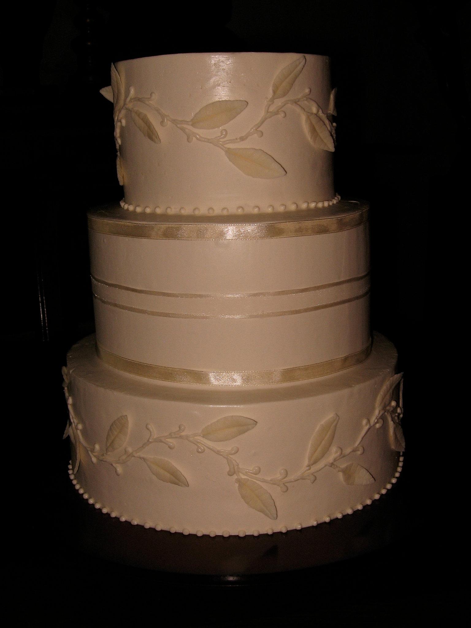 White Chocolate Buttercream Wedding Cake