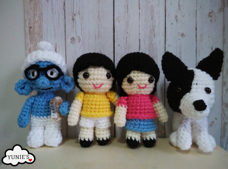 Amigurumi Hawai Doll : Smurf , dolls and doggie Yunies Wedding Dolls Amigurumi