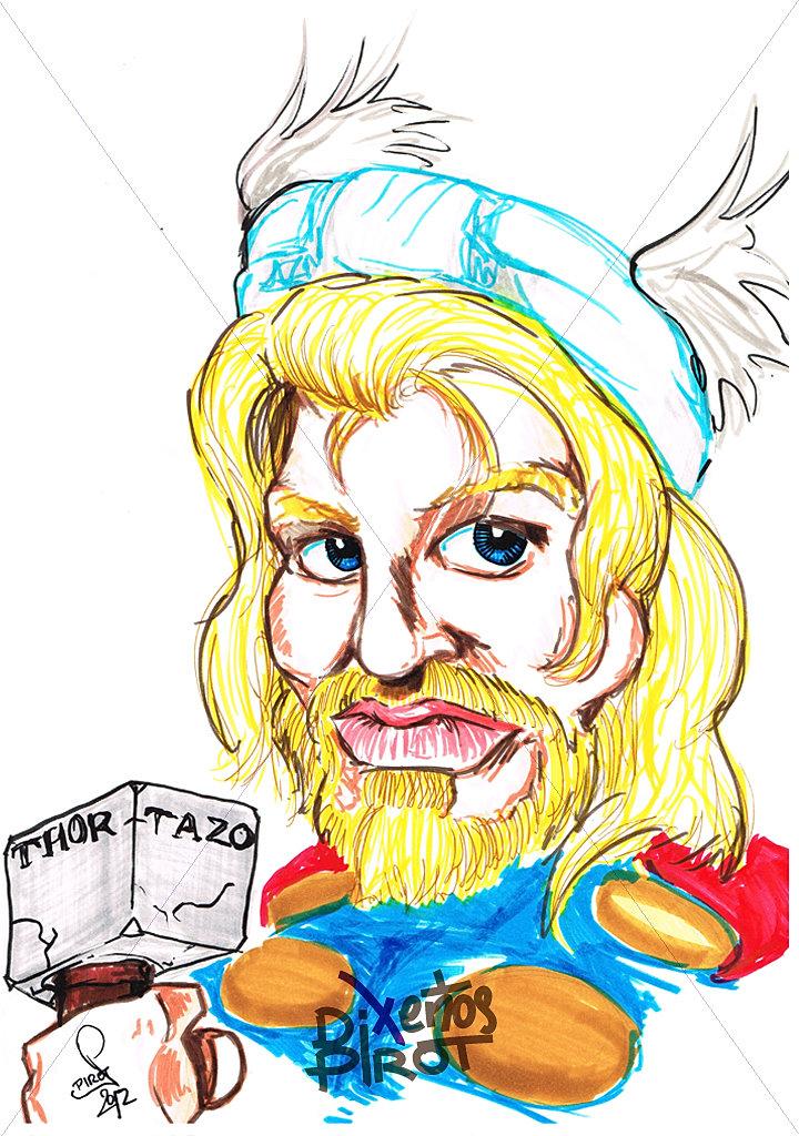 Dx Pirot Caricatura Thor