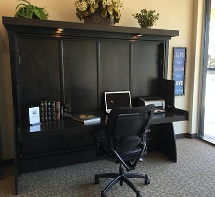 Murphy Bed Desk Closed Zoom Room