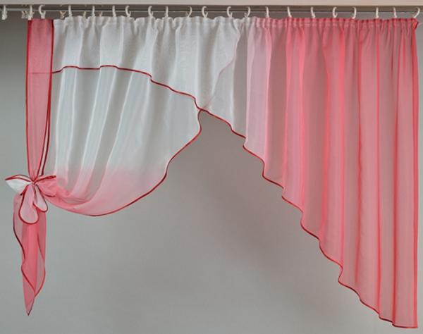 Как сшить шторы на кухню из вуали своими руками