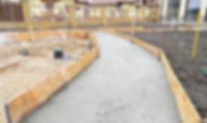 Building new concrete pavement foundatio