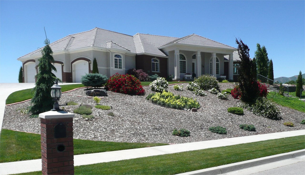 Low Water Landscaping. Finest Landscape Ideas For Front Yard No ...