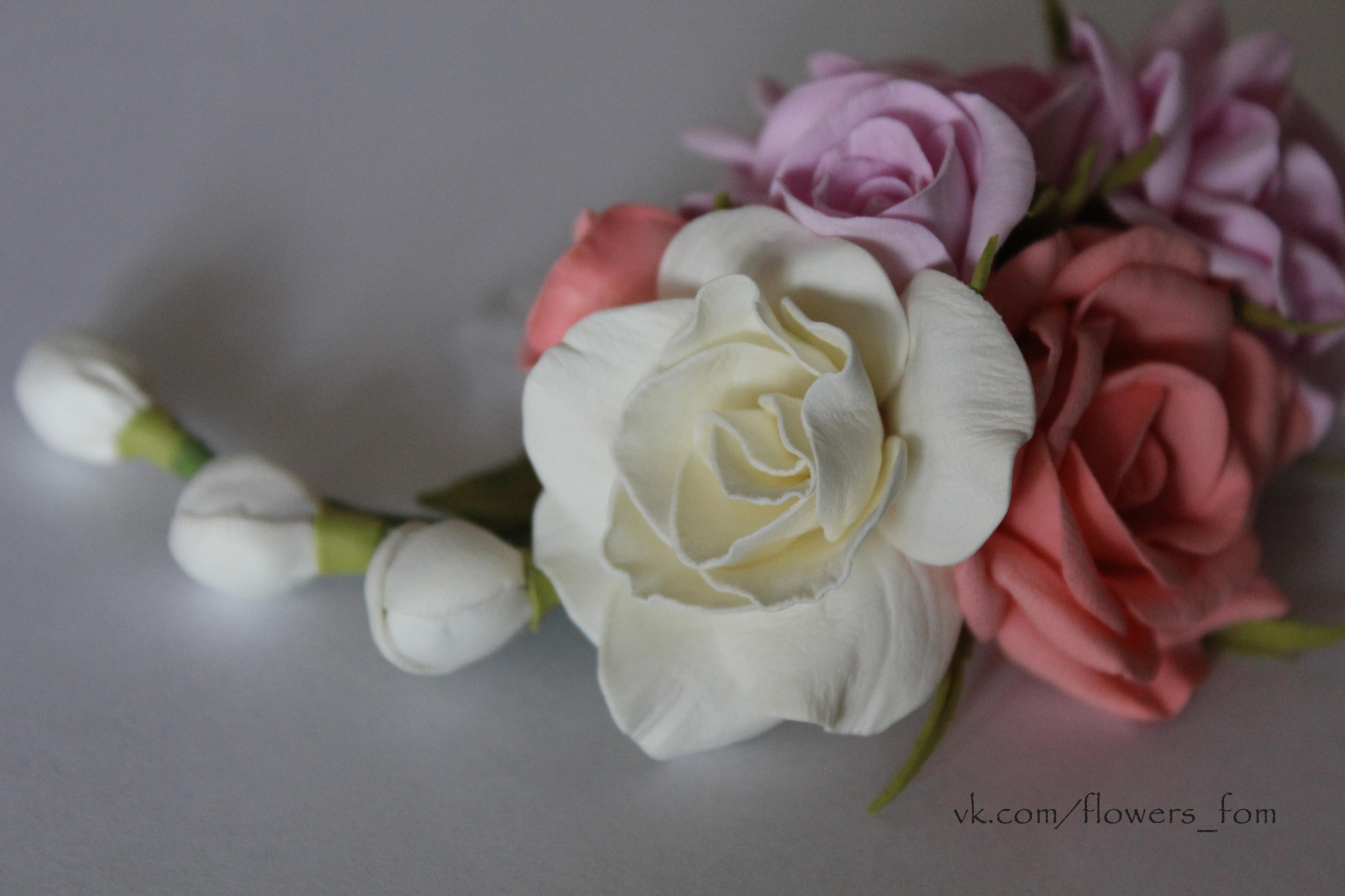 МК Цветы из фоамирана 30