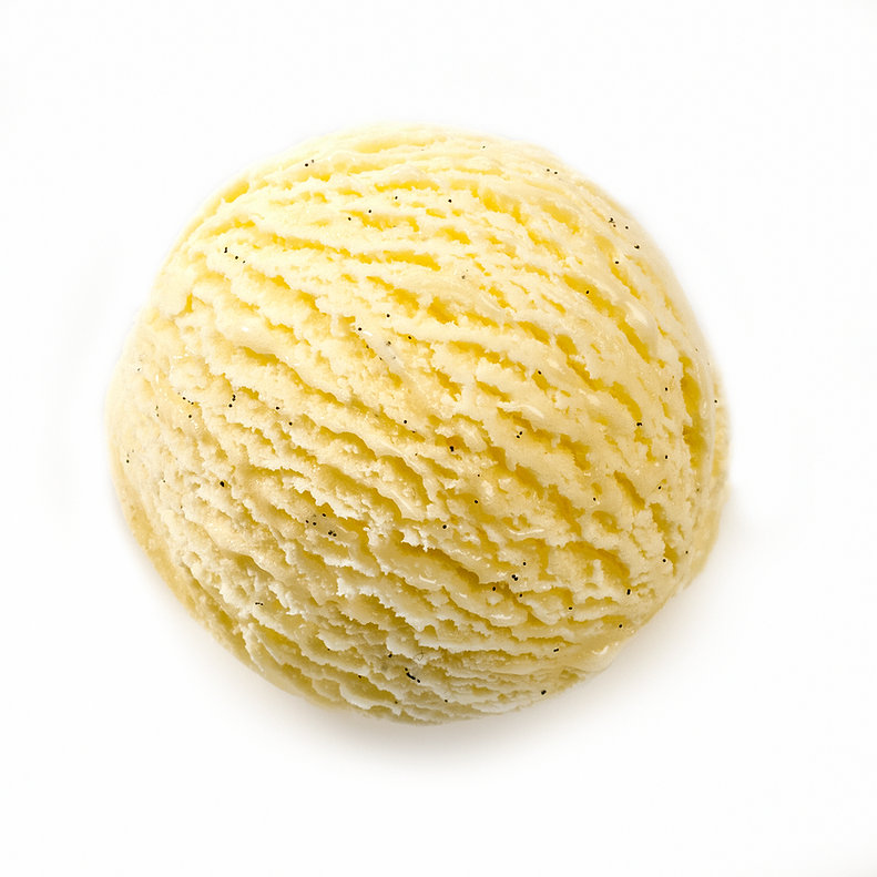 Vanilla ice cream scoop png