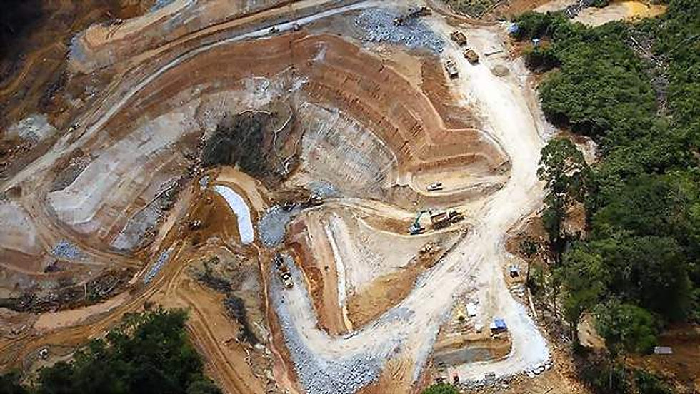 typical mine aerial photo