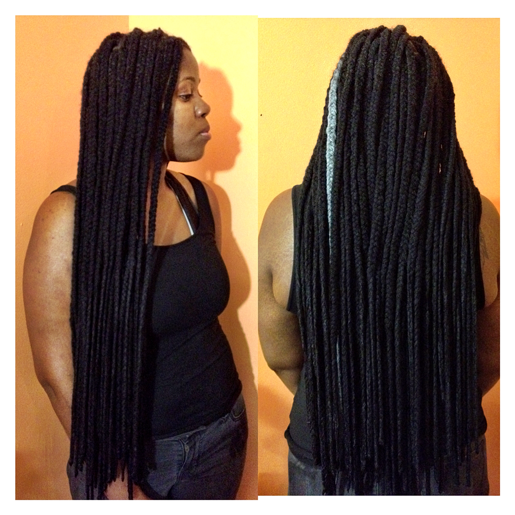 Yarn crochet braids