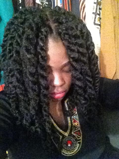 Kinky Twists Using Marley Hair