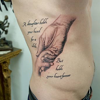 Tattooed lady tattoo studio manchester for Father and daughter tattoos