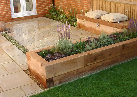 Mark langford garden design i new build garden aylesbury for Garden design ideas new build