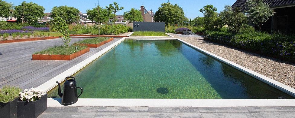 Tuinontwerpbureau villa met zwemvijver for Zwemvijver filtersysteem