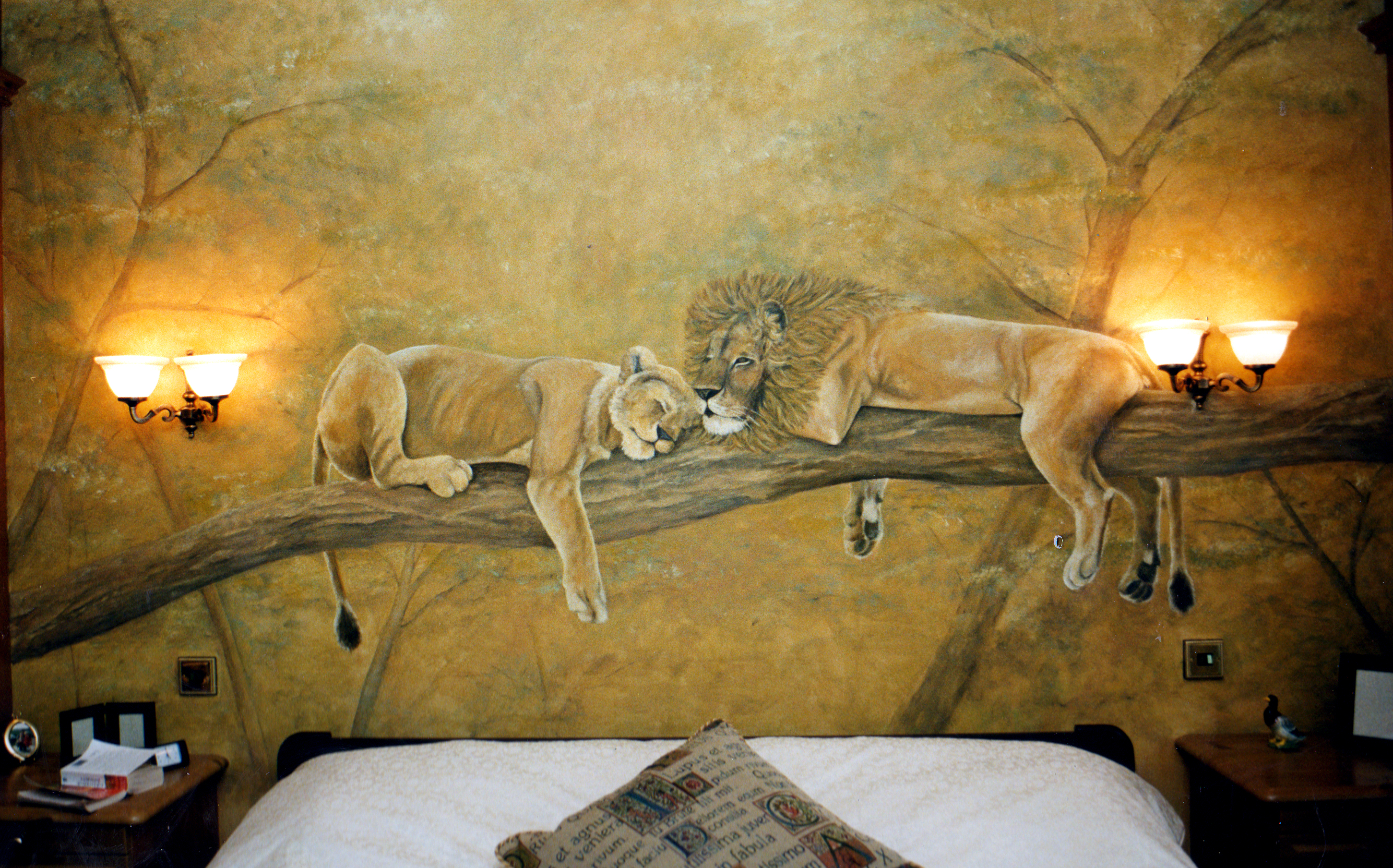 Decoration By Design Sleeping Lions - Bedroom Wall Decoration