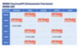 Horários RITMO HIIT + RITMO FuncionalFit (Treinamento Funcional)