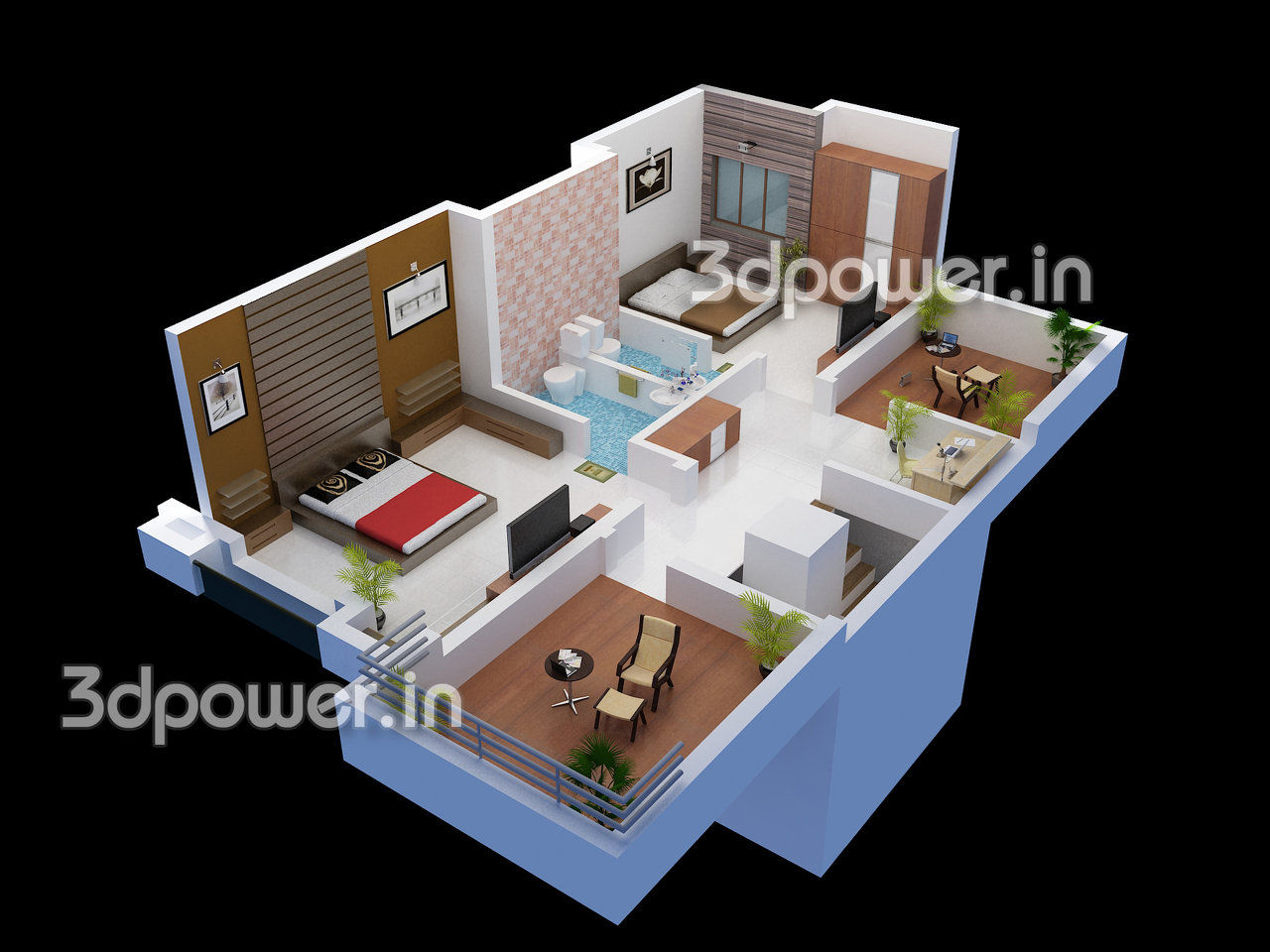 Images About 3d Plans Section Elevation On - Cut section or 3d floor plans jpg
