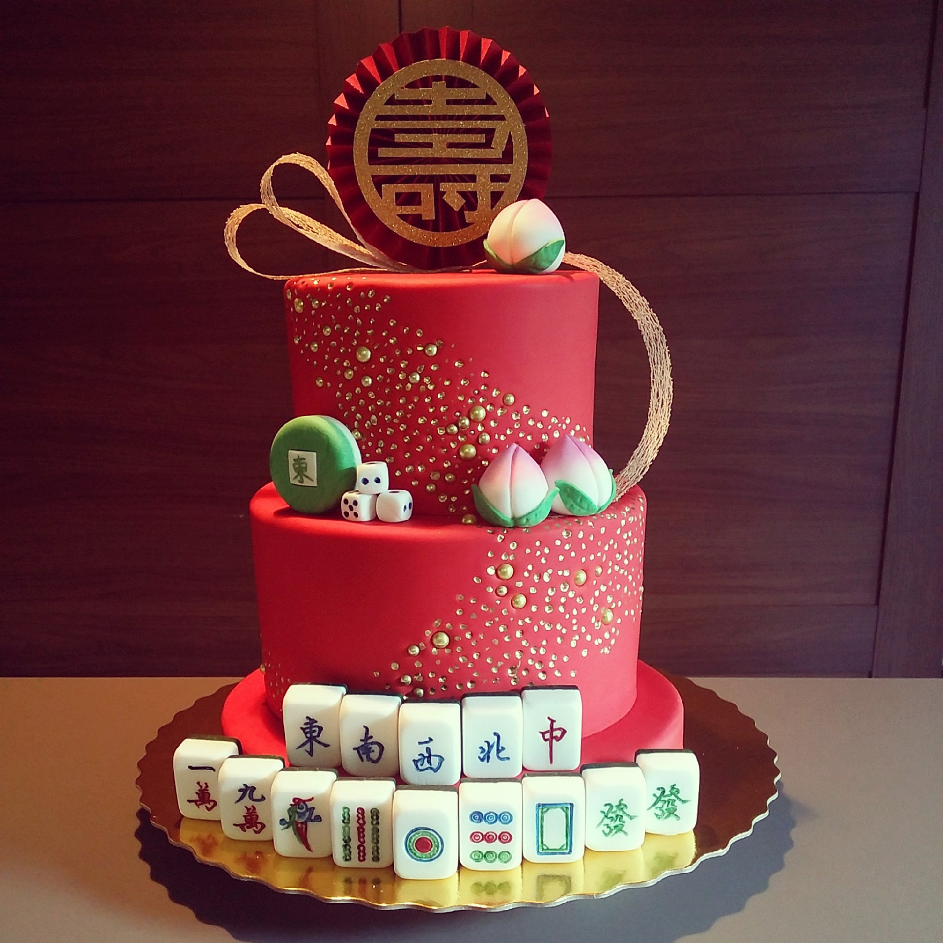 Birthday Cake Design For Papa : Kitty Wong PastryShop Mahjong Theme Birthday Cake